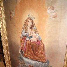 Arte: CUADRO PINTADO A EL OLEO /VIRGEN MARIA DANDO DE MAMAR /SIGLO XVIII . Lote 26831727