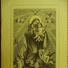 Arte: PEQUEÑO GRABADO RELIGIOSO SAN JOSÉ . SIGLO XIX. . Lote 33372723