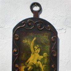 Arte: LAMINA EN MADERA POLICROMADA. Lote 21761140