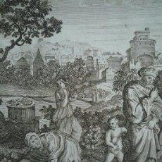 Arte: BONITO Y ANTIGUO GRABADO, MOISES ARROJADO AL RIO, EXODUS 2/3, MOSES CAST INTO THE RIVER. CALIDAD. Lote 21874234