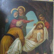 Arte: LAMINA VIA CRUCIS PRINTED IN GERMANY AÑOS 30 SUFRIDA 43 X 33 CENTIMETROS VER FOTO ES LA MISMA. Lote 30787911