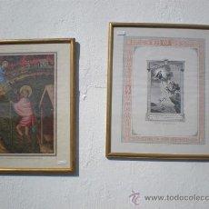 Arte: 2 CUADROS LITOGRAFIAS RELIGIOSA. Lote 22770434