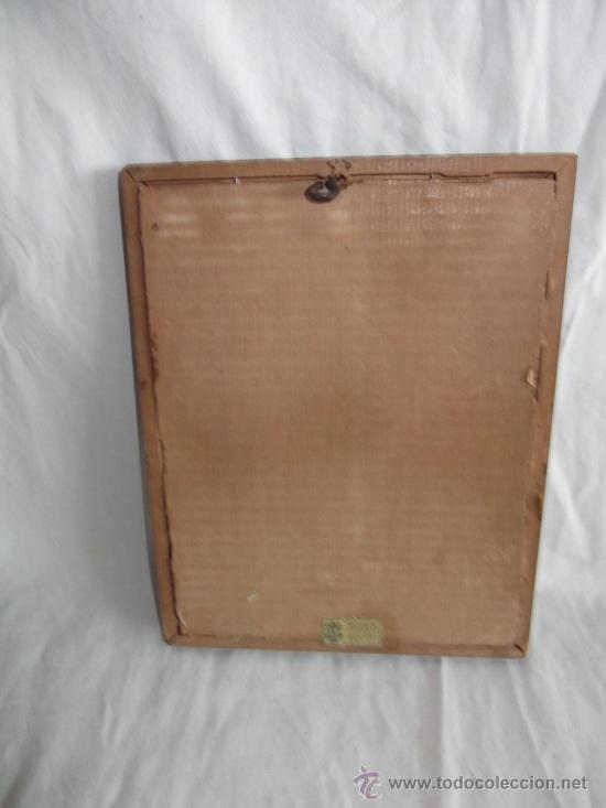 Arte: antiguo cuadro de virgen dibujado encima de la madera 21 cm x 16 cm - Foto 3 - 26522644