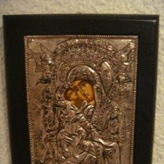 Arte: CUADRO RELIGIOSO DE PLATA. ICONO RELIGIOSO DE PLATA. VIRGEN. GRIEGO. PLATA. ARTE BIZANTINO. Lote 27345462