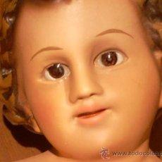 Arte: NIÑO JESUS, ESCAYOLA O SIMILAR, OJOS DE CRISTAL, MEDIDAS: 20 X 12. Lote 27489062