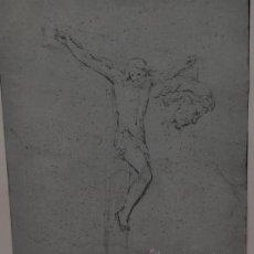 Arte: ANÓNIMO DEL SIGLO XIX. DIBUJO A LÁPIZ GRASO DE TEMA RELIGIOSO. (ESBOZOS). Lote 23644250