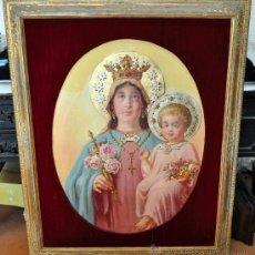 Arte: EMILIO CASALS Y CAMPS (1843-1928) OLEO SOBRE TELA.VIRGEN CON NIÑO. Lote 26497828