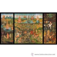 Arte: EL BOSCO: JARDIN DE LAS DELICIAS. CUADRO DE 70 X 40 CM HECHO EN TABLA DE MADERA. REPRODUCCION. Lote 27073486
