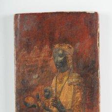 Arte: PINTURA SOBRE TABLA, VIRGEN DE MONTSERRAT (LA MORENETA), S.XX. Lote 24663312