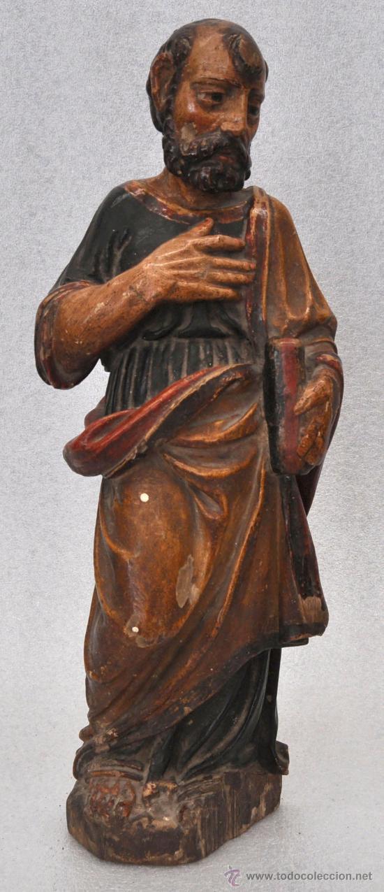 INTERESANTE TALLA POLICROMADA DEL SIGLO XVII (Arte - Arte Religioso - Escultura)
