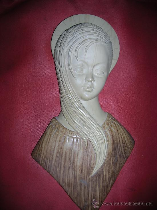BUSTO VIRGEN ( ESCAYOLA) (Arte - Arte Religioso - Escultura)
