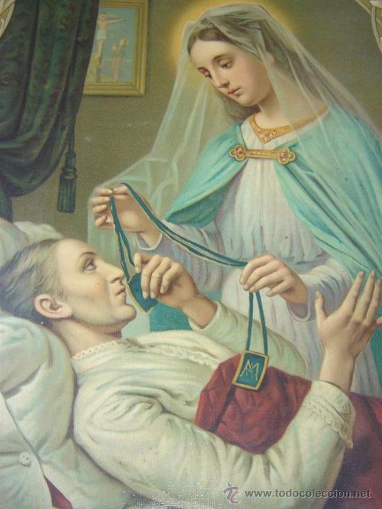 Arte: lamina religiosa antigua - Foto 2 - 25373385