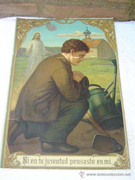 LAMINA RELIGIOSA ANTIGUA (Arte - Arte Religioso - Pintura Religiosa - Otros)