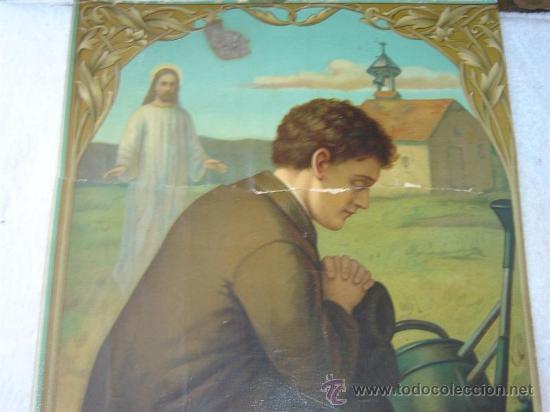 Arte: lamina religiosa antigua - Foto 2 - 25373404