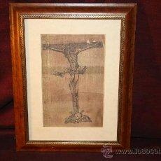 Arte: I2-008. IMAGEN DE JESUS CRUCIFICADO IMPRESO EN TELA S.. XVIII. Lote 25427494