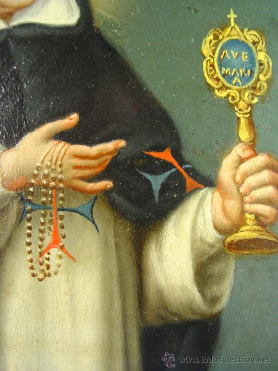 Arte: SAN SIMÓN DE ROXAS. OLEO SOBRE COBRE. SIGLO XVIII. - Foto 5 - 27279583