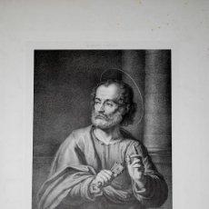 Arte: SAINT PIERRE. SAN PEDRO. LITOGRAFÍA ORIGINAL DE JACCOTT. S.XIX.. Lote 25971378