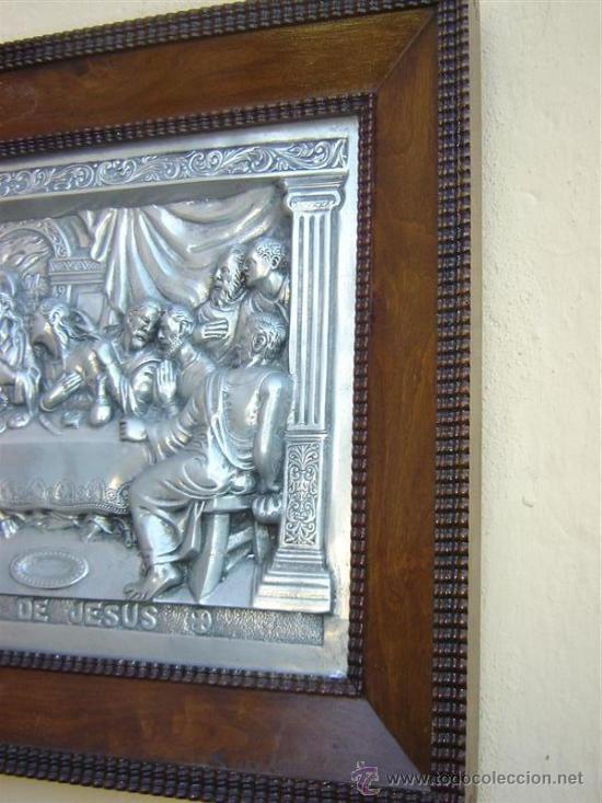 Arte: cuadro de la santa cena antiguo - Foto 2 - 26065176