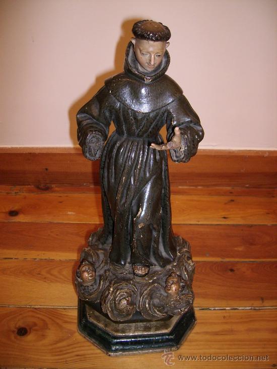 ANTIGUA TALLA DE 40CMS MUY BUENA S.XVIII LE FALTA UNA MANO (Arte - Arte Religioso - Escultura)
