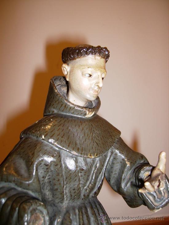 Arte: antigua talla de 40cms muy buena S.XVIII le falta una mano - Foto 2 - 26409455