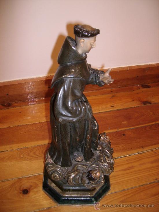 Arte: antigua talla de 40cms muy buena S.XVIII le falta una mano - Foto 3 - 26409455
