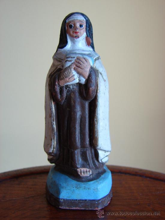 FIGURA DE SANTA TERESA DE JESUS DE TERRACOTA (Arte - Arte Religioso - Escultura)