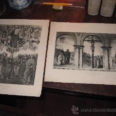 Arte: LOTE DE 2 FOTOGRABADOS RELIGIOSOS SIGLO XIX-XX. Lote 26869551