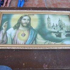 Arte: CUADRO SAGRADO CORAZÓN DE JESÚS, 46X25 CMS. Lote 26871937