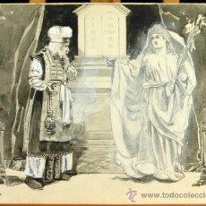 Arte: ANUNCIACIÓN A ZACARÍAS - FRANZ GAILLIARD (BÉLGICA, 1861-1932). Lote 27956452
