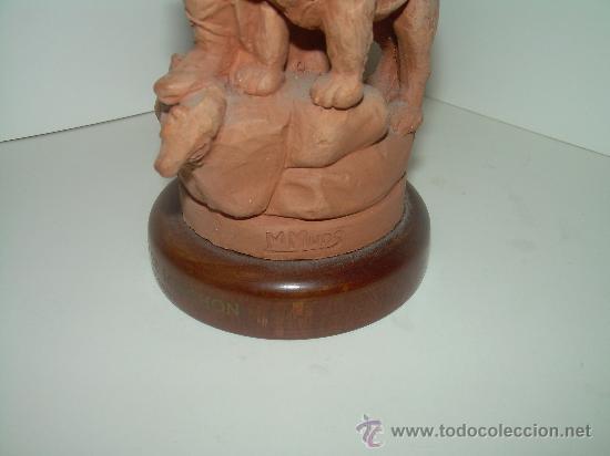 Arte: ANTIGUA Y BONITA FIGURA DE............ SANT BERNAT ....FIRMADA POR M. MUNS - Foto 6 - 28133021