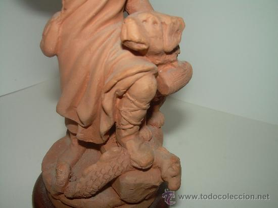 Arte: ANTIGUA Y BONITA FIGURA DE............ SANT BERNAT ....FIRMADA POR M. MUNS - Foto 12 - 28133021