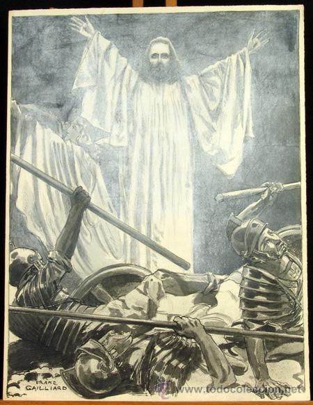 FRANZ GAILLIARD (BÉLGICA, 1861-1932) - RESURECCIÓN DE CRISTO (Arte - Arte Religioso - Pintura Religiosa - Otros)