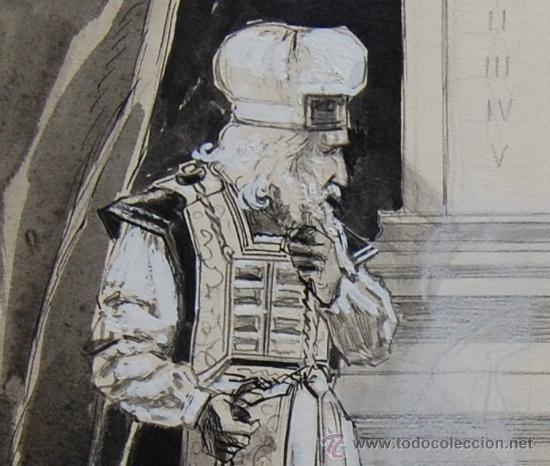 Arte: ANUNCIACIÓN A ZACARÍAS - FRANZ GAILLIARD (Bélgica, 1861-1932) - Foto 5 - 27956452