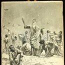 Arte: FRANZ GAILLIARD (BÉLGICA, 1861-1932) - MOISES: MANÁ EN EL SINAI. Lote 28365133