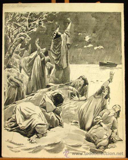 FRANZ GAILLIARD (BÉLGICA, 1861-1932) - NOÉ: DILUVIO UNIVERSAL (Arte - Arte Religioso - Pintura Religiosa - Otros)