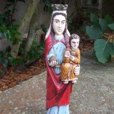 Arte: BONITA IMAGEN VIRGEN MARIA CON NIÑO. 50 CM. Lote 28448552