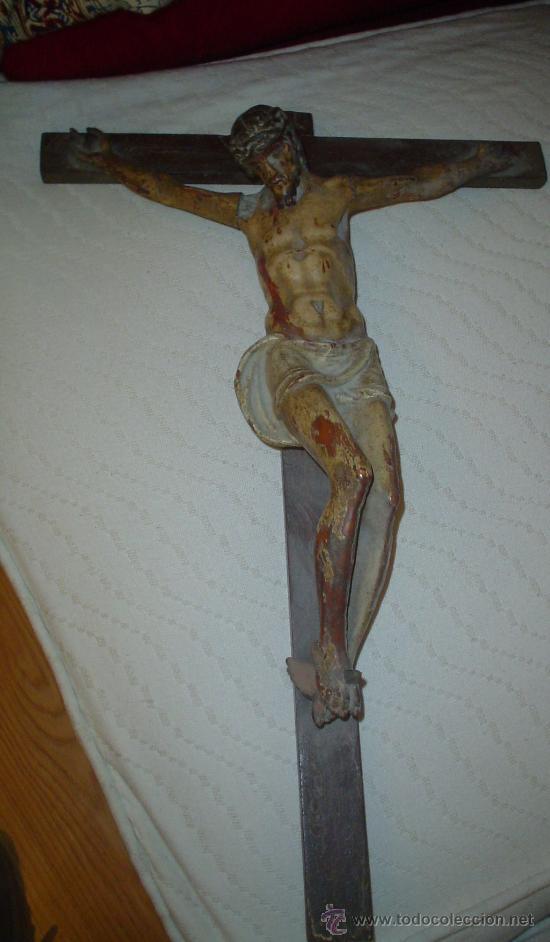 CRUCIFIJO SIGLO XVIII (Arte - Arte Religioso - Escultura)