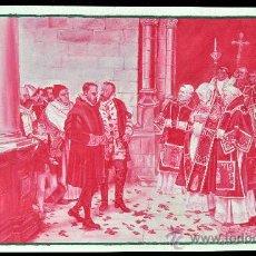Arte: PRECIOSO GOUCHE DEL 1900 APROX. DE TEMA ARISTOCRÁTICO-RELIGIOSO. GRAN CALIDAD. Lote 28763789