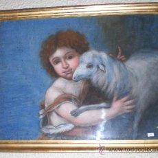 Arte: ANTIGUA PINTURA RELIGIOSA. ACUARELA. S.XIX. SAN JUANITO.. Lote 28966935