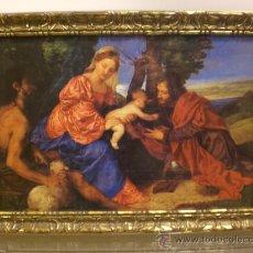 Arte: PRECIOSA LAMINA IMAGEN RELIGIOSA ENMARCADA. EDICIONES KARALAZ. AÑOS 50. Lote 29076722