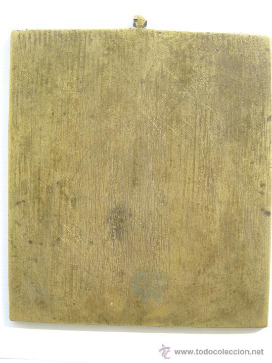 Arte: ICONO RUSO DE VIAJE. SAN NICOLAS.S. XIX. MUY RARO BRONCE CON ESMALTE DE 6 COLORES - Foto 6 - 12112572
