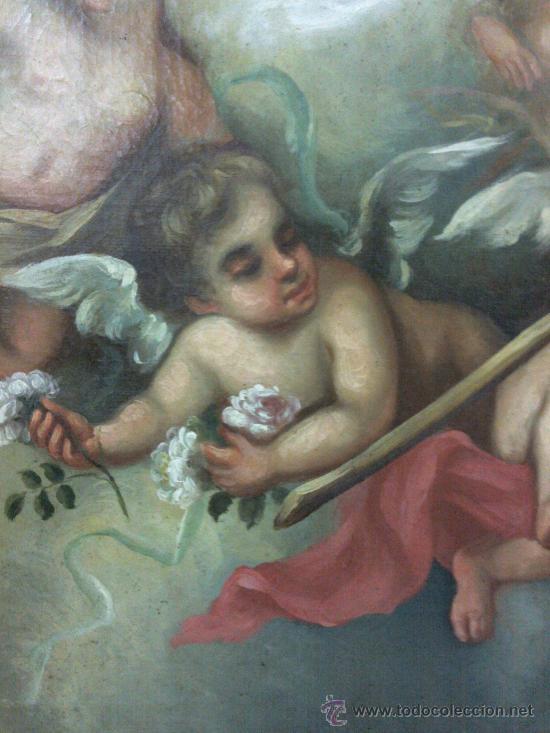 Arte: Antiguo óleo lienzo Virgen Siglo XIX - Foto 19 - 29388620