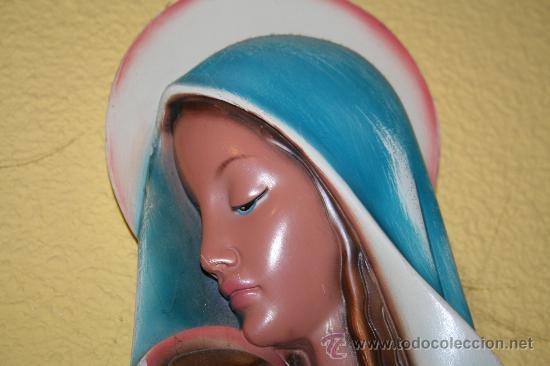 FIGURA VIRGEN MARIA AÑOS 60-70 (Arte - Arte Religioso - Escultura)
