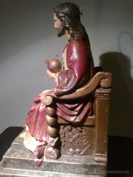 Arte: JESÚS ENTRONIZADO. ESCULTURA DE OLOT - Foto 5 - 29675160