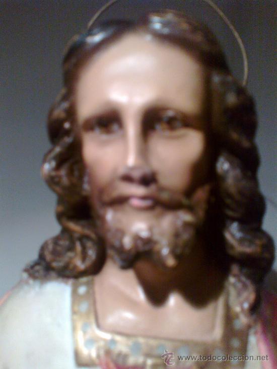 Arte: JESÚS ENTRONIZADO. ESCULTURA DE OLOT - Foto 8 - 29675160
