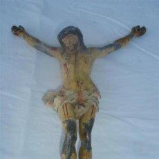 Arte: ESCULTURA DE CRISTO EN PLOMO POLICROMADO. Lote 29835015
