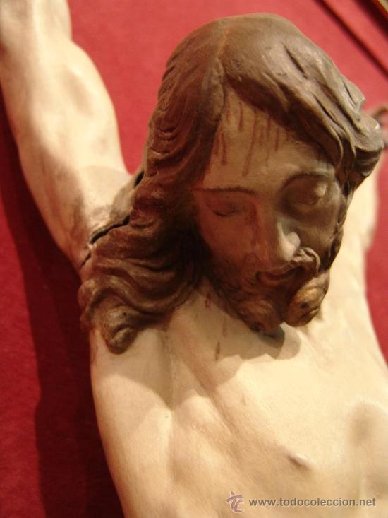excepcional escultura de cristo en estaño. anat - Comprar Escultura ...