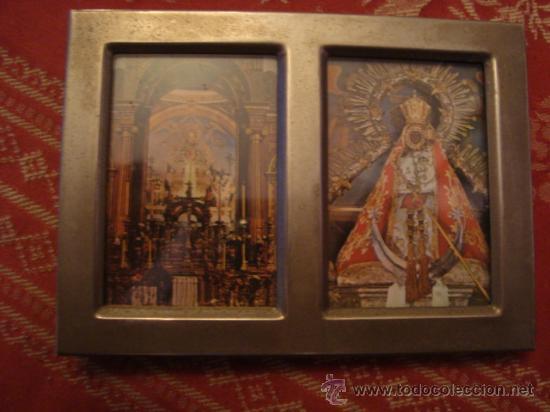 CUADRITO METAL VIRGEN DE LA CABEZA DE ANDUJAR 11 CM (Arte - Arte Religioso - Trípticos)
