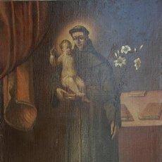 Arte: PINTURA ORIGINAL ESPAÑOLA, SAN ANTONIO DE PADUA. OLEO SOBRE LIENZO 90 X 130 CM. Lote 30200247
