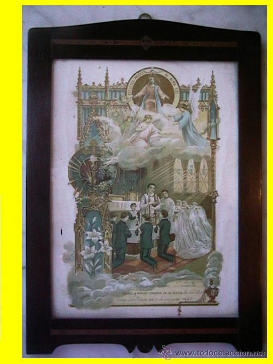 CUADRO RECUERDO PRIMERA COMUNIÓN (Arte - Arte Religioso - Grabados)